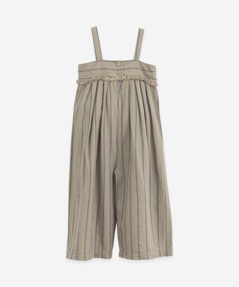 Striped woven jumpsuit