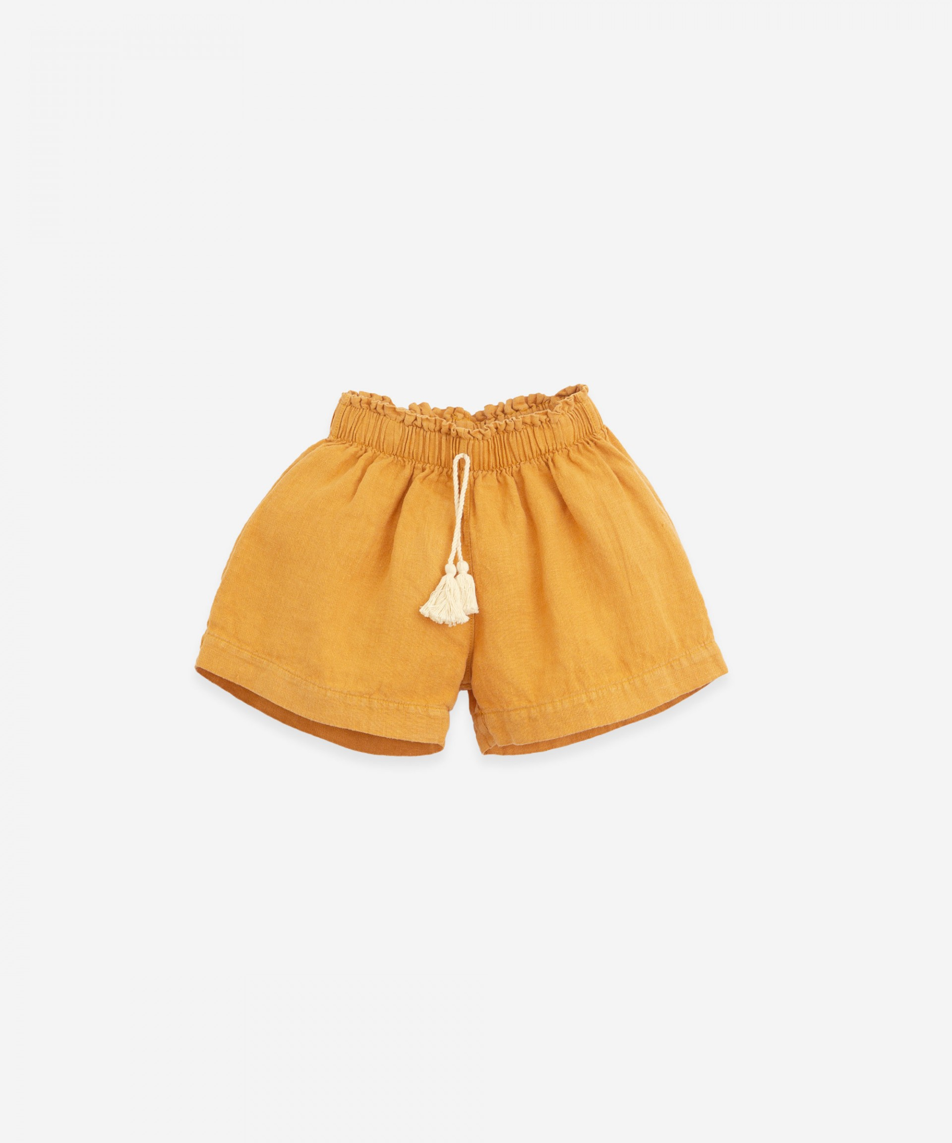 Woven shorts with cord | Botany