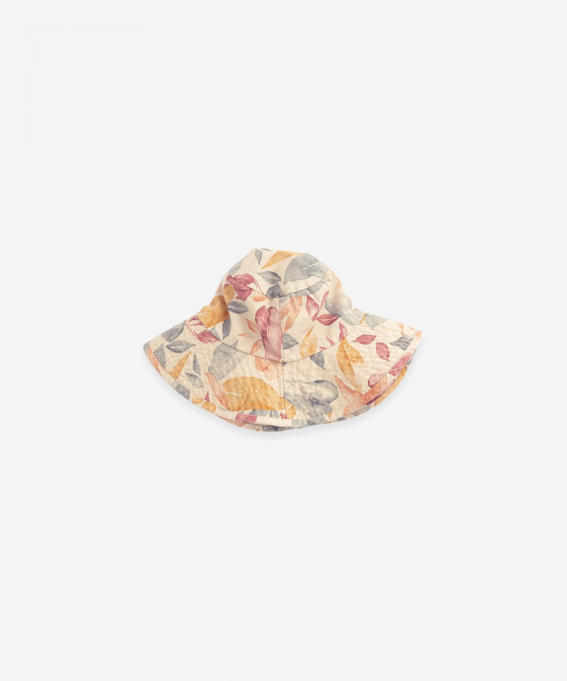 Chapéu com estampado de folhas | Botany