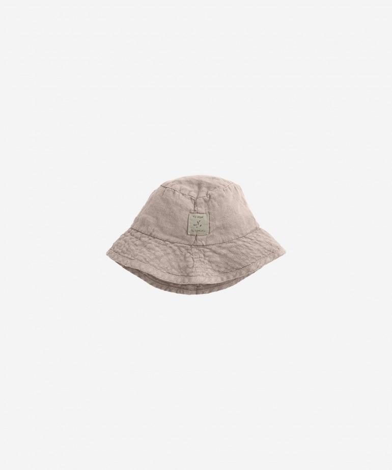 Sombrero de lino con forro de algodón