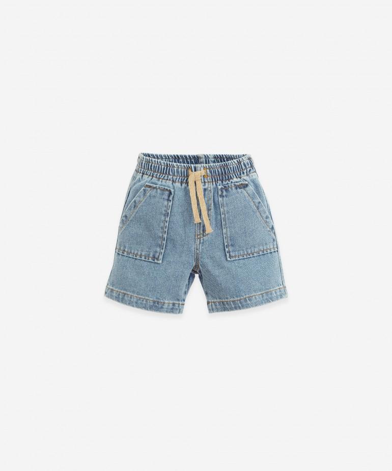 Pantaloncini di jeans di cotone