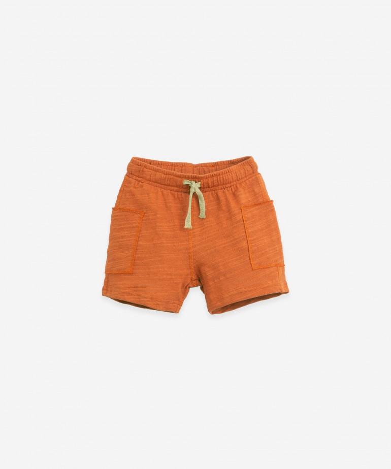 Pantaloni di maglina in cotone biologico