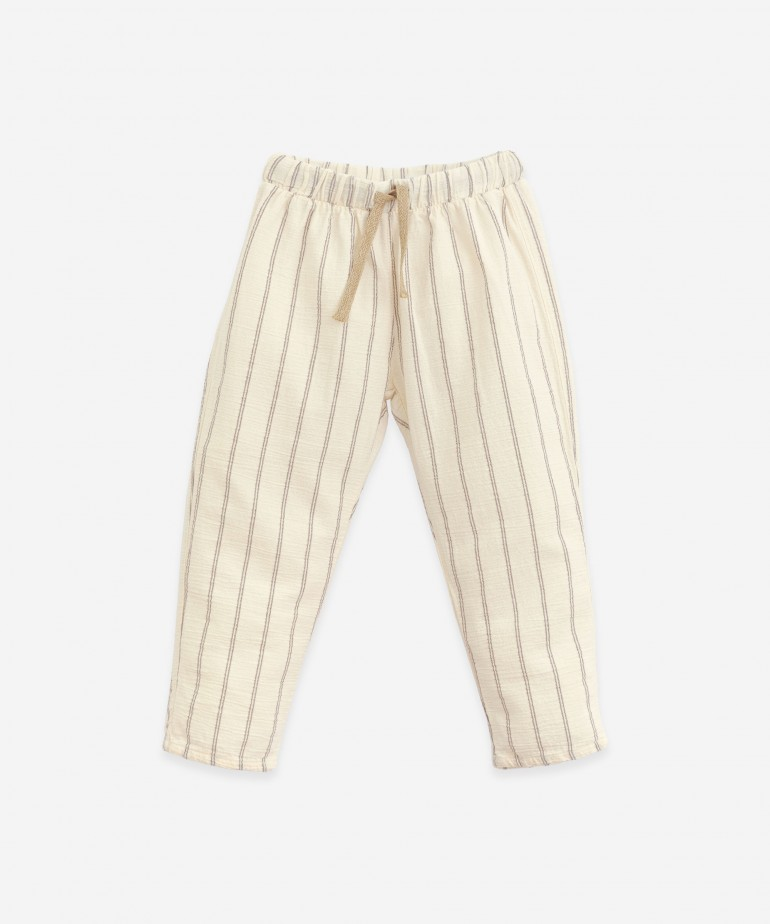 Striped woven trousers