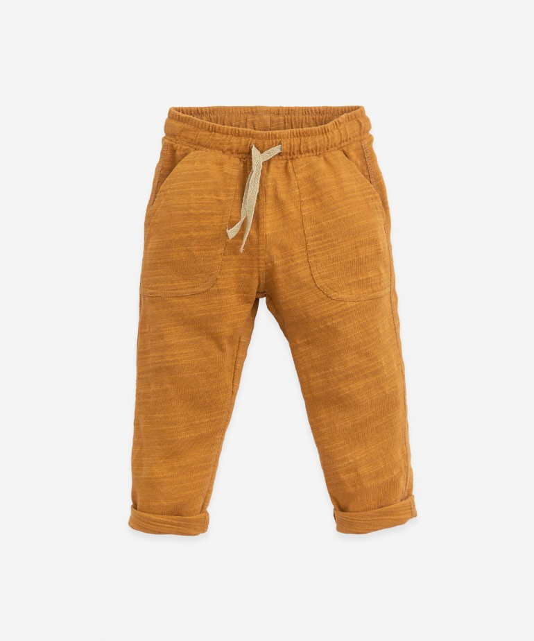 Trousers in organic cotton with cord