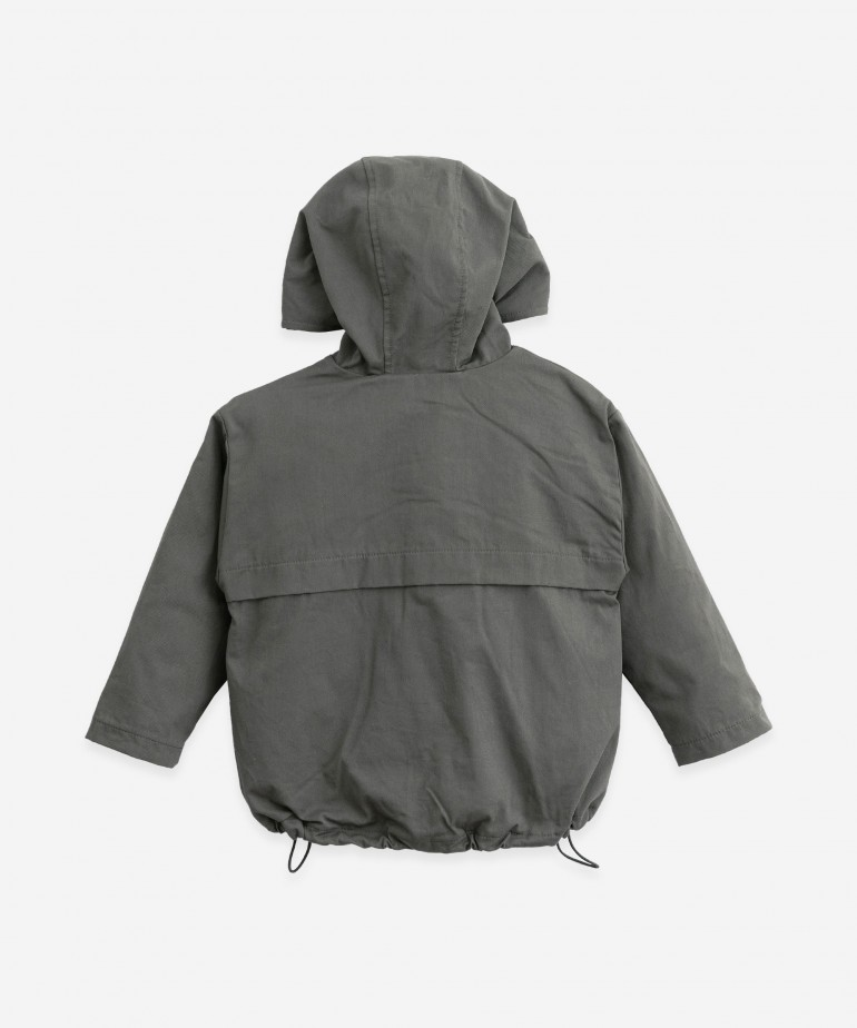 Twill parka with zip