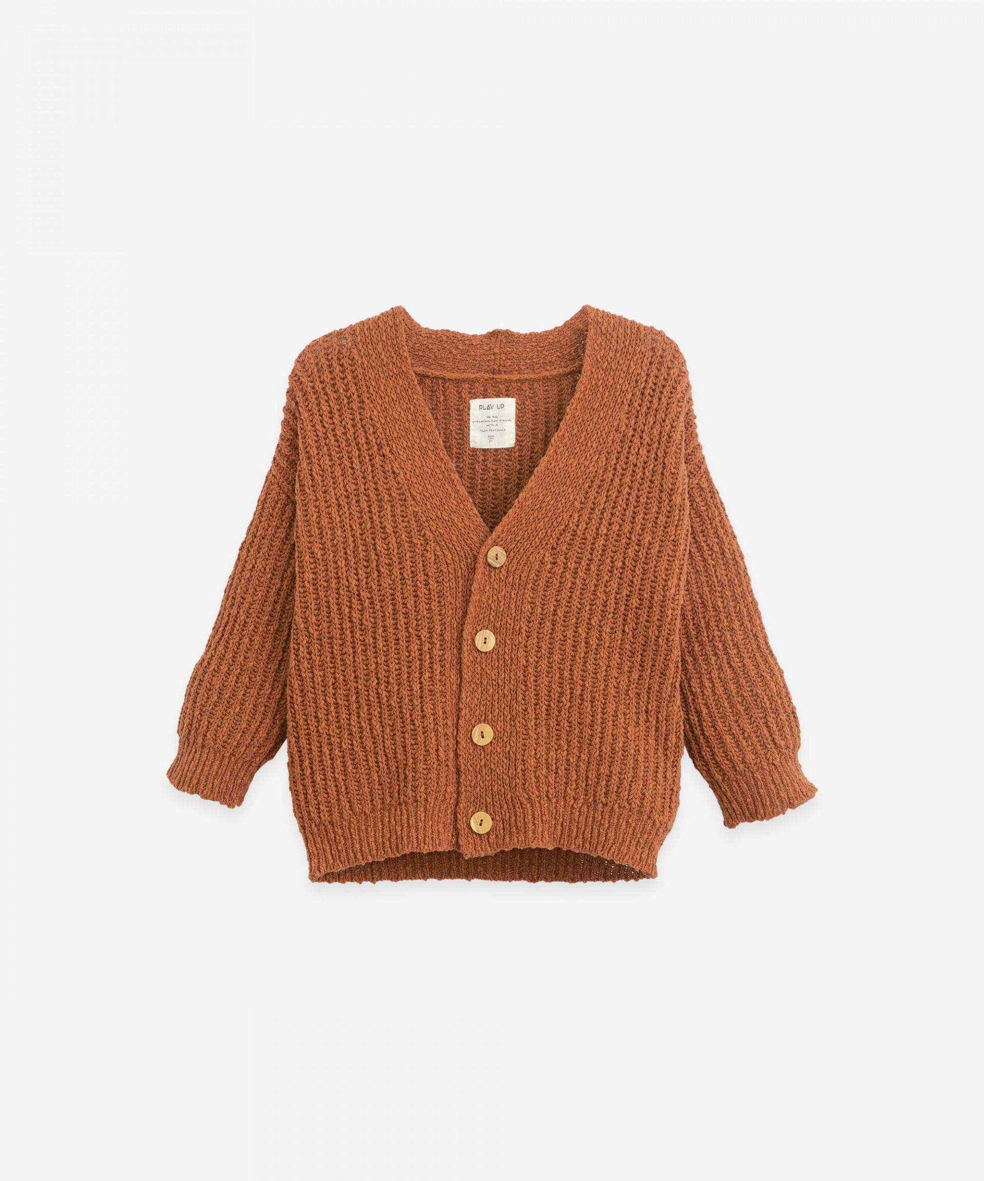 Knitted-effect jacket | Botany