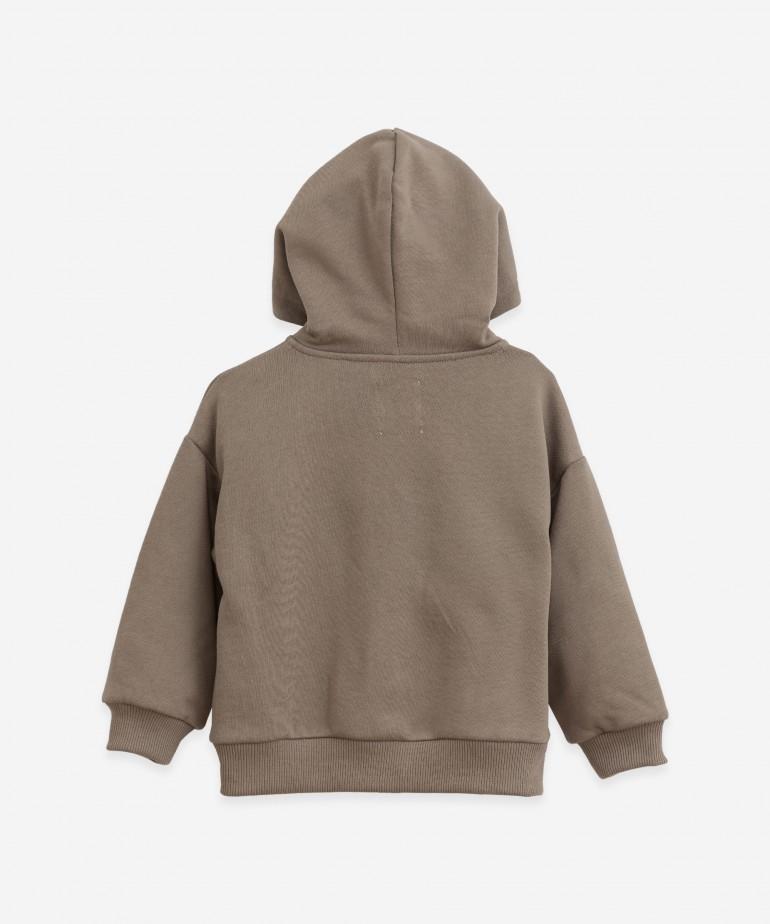 Jersey stitch hooded jacket