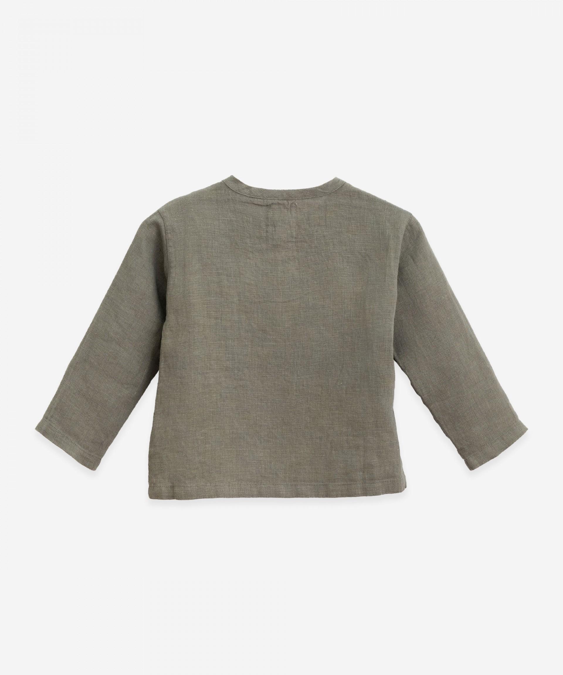 Camisa de lino con bolsillo | Botany