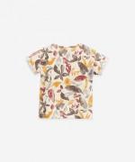 T-shirt em algodão orgânico e linho | Botany