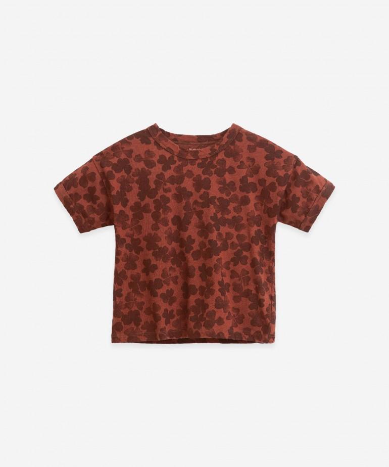 T-Shirt in cotone organico e lino