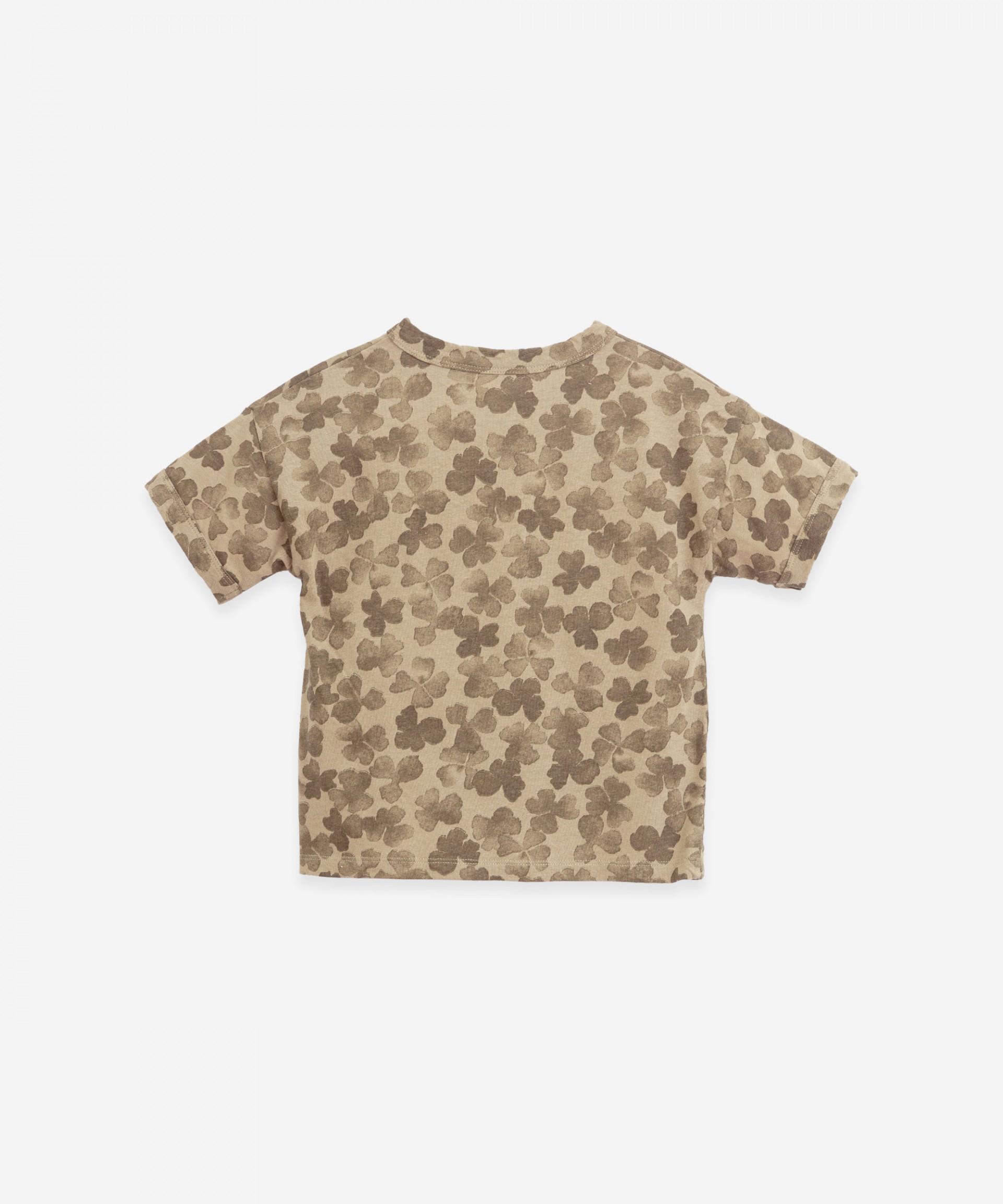 Camiseta con estampado de tréboles | Botany