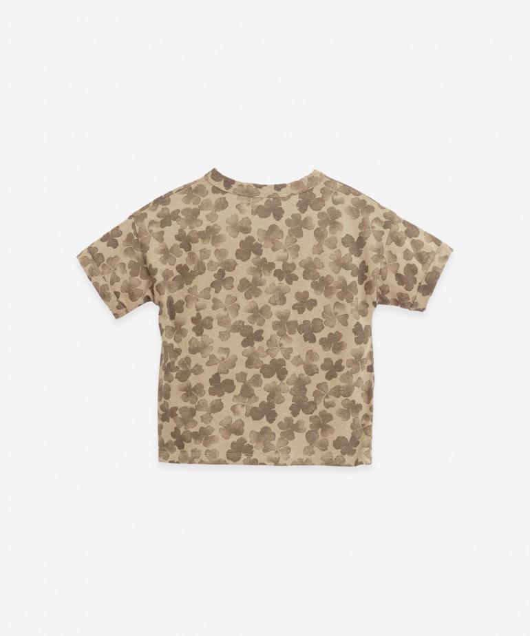 Camiseta de algodón orgánico y lino