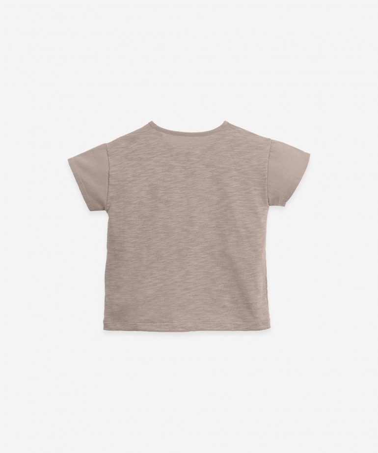 T-shirt with opening on the shoulder | Botany