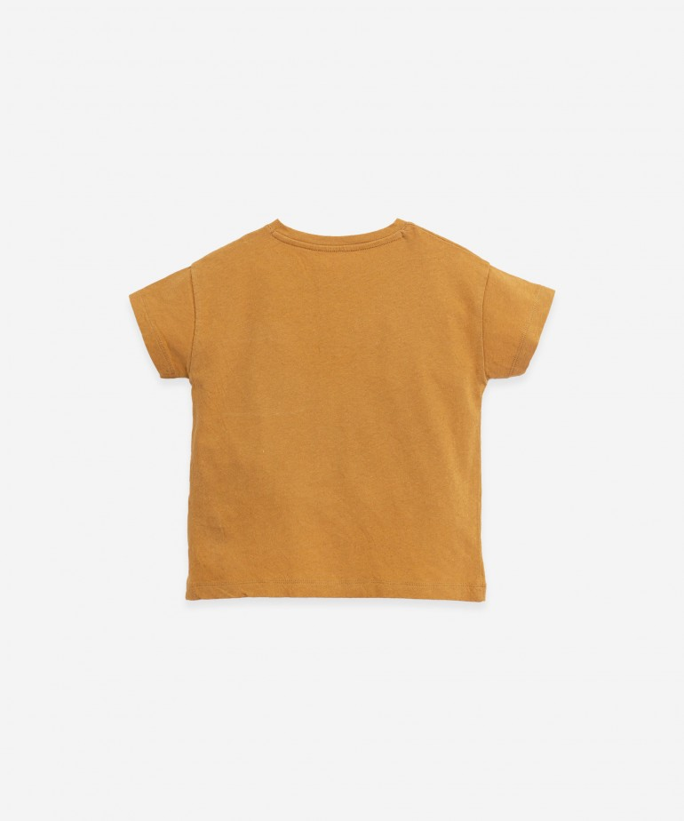 T-shirt in organic cotton and linen