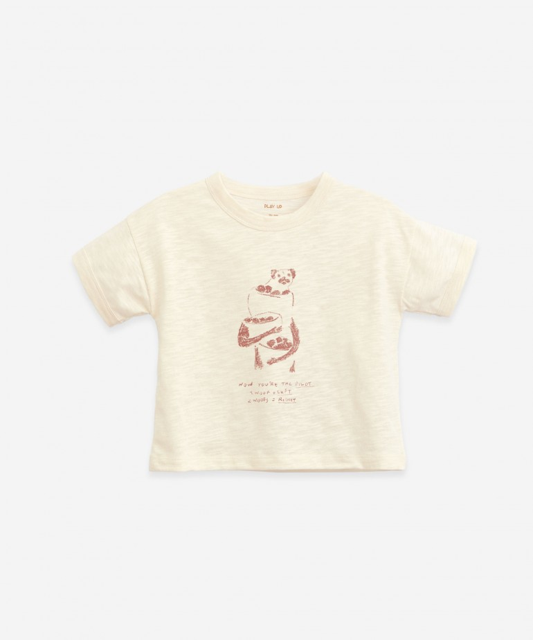 T-shirt in organic cotton with drawing