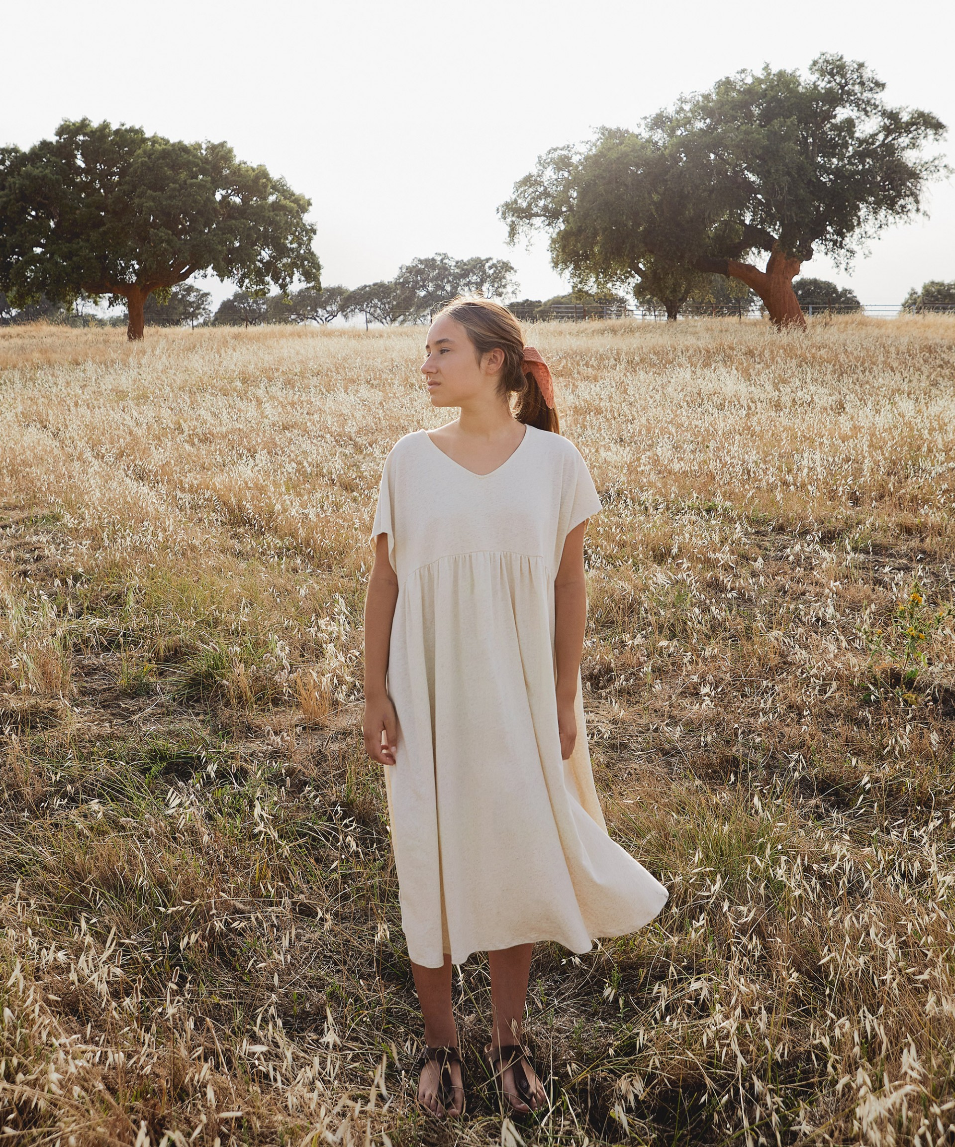 Dress with loose sleeves | Botany