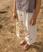 Striped skirt with pockets | Botany