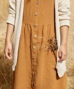 Linen dress with large pockets | Botany