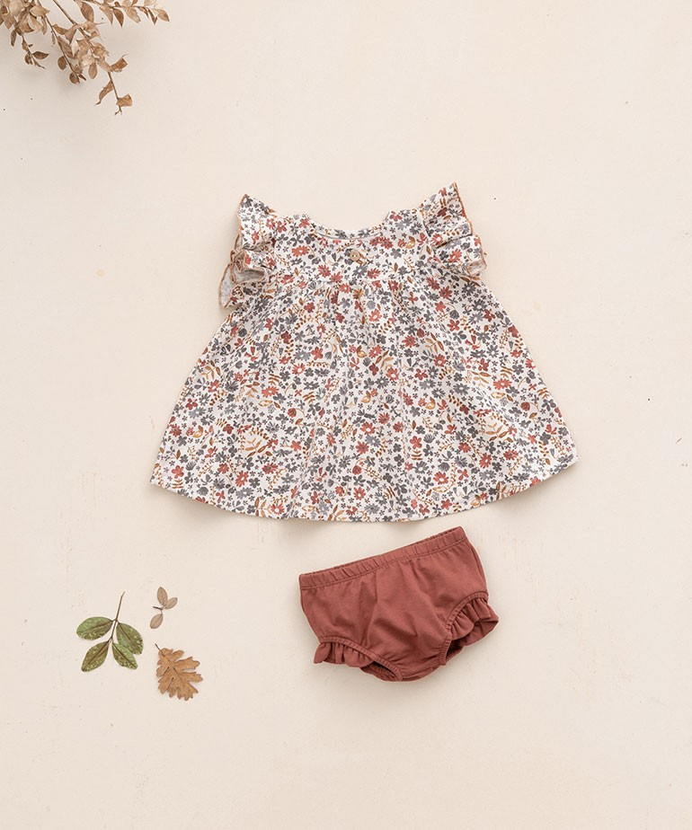 Cotton dress with flower print