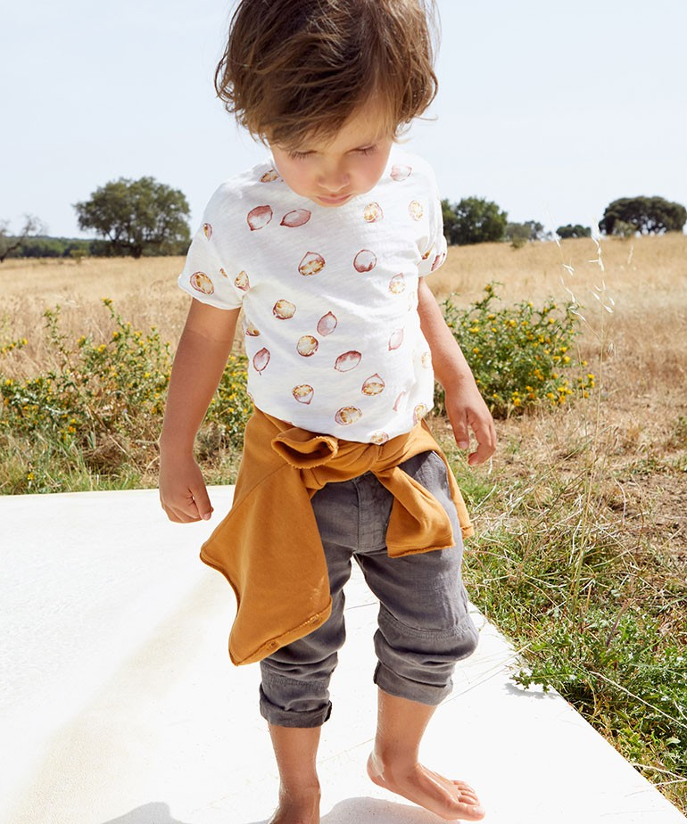 Pantalón de lino con bolsillos