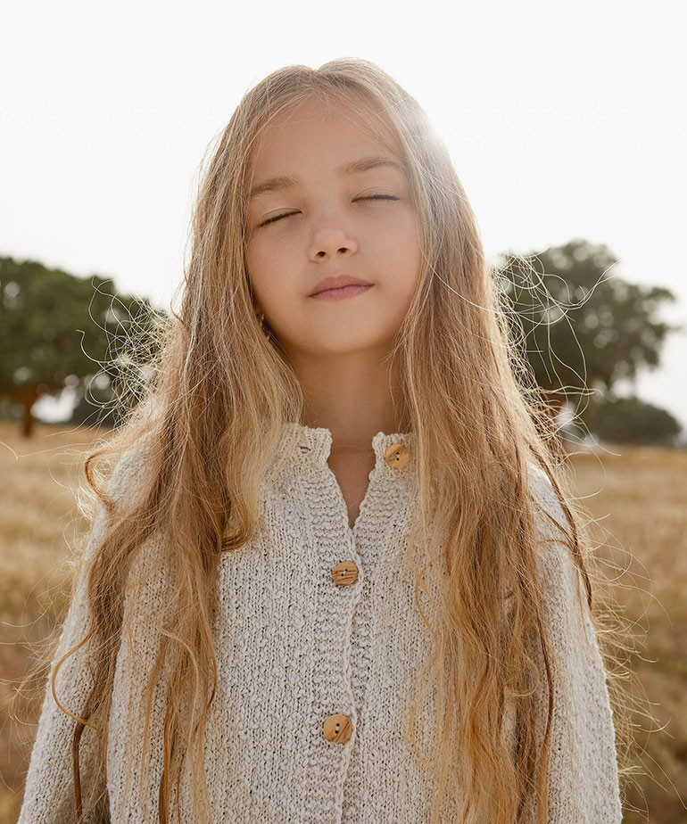Chaqueta tricot de algodón-lino