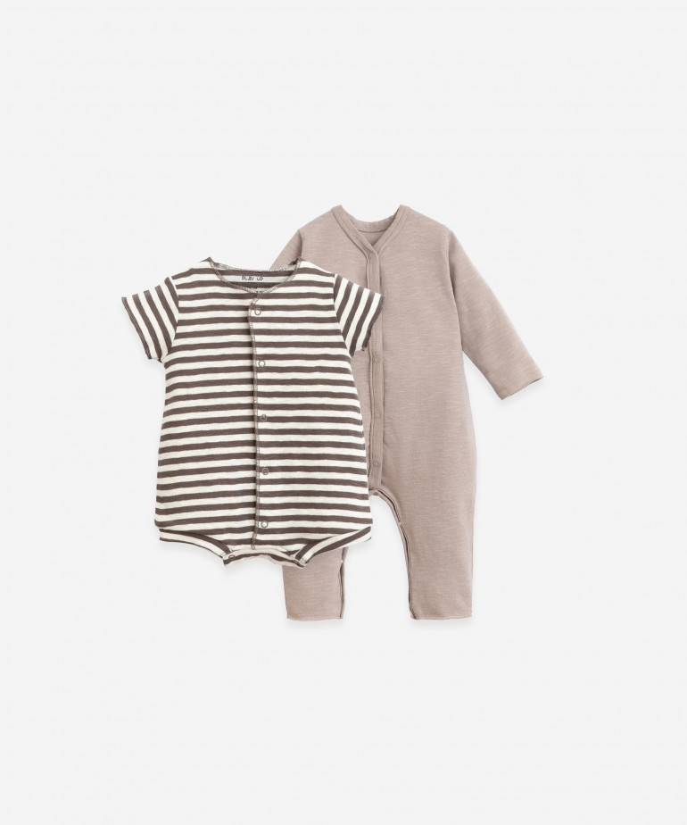 Pack of 2 baby grows in organic cotton