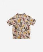 Camicia in lino con stampa