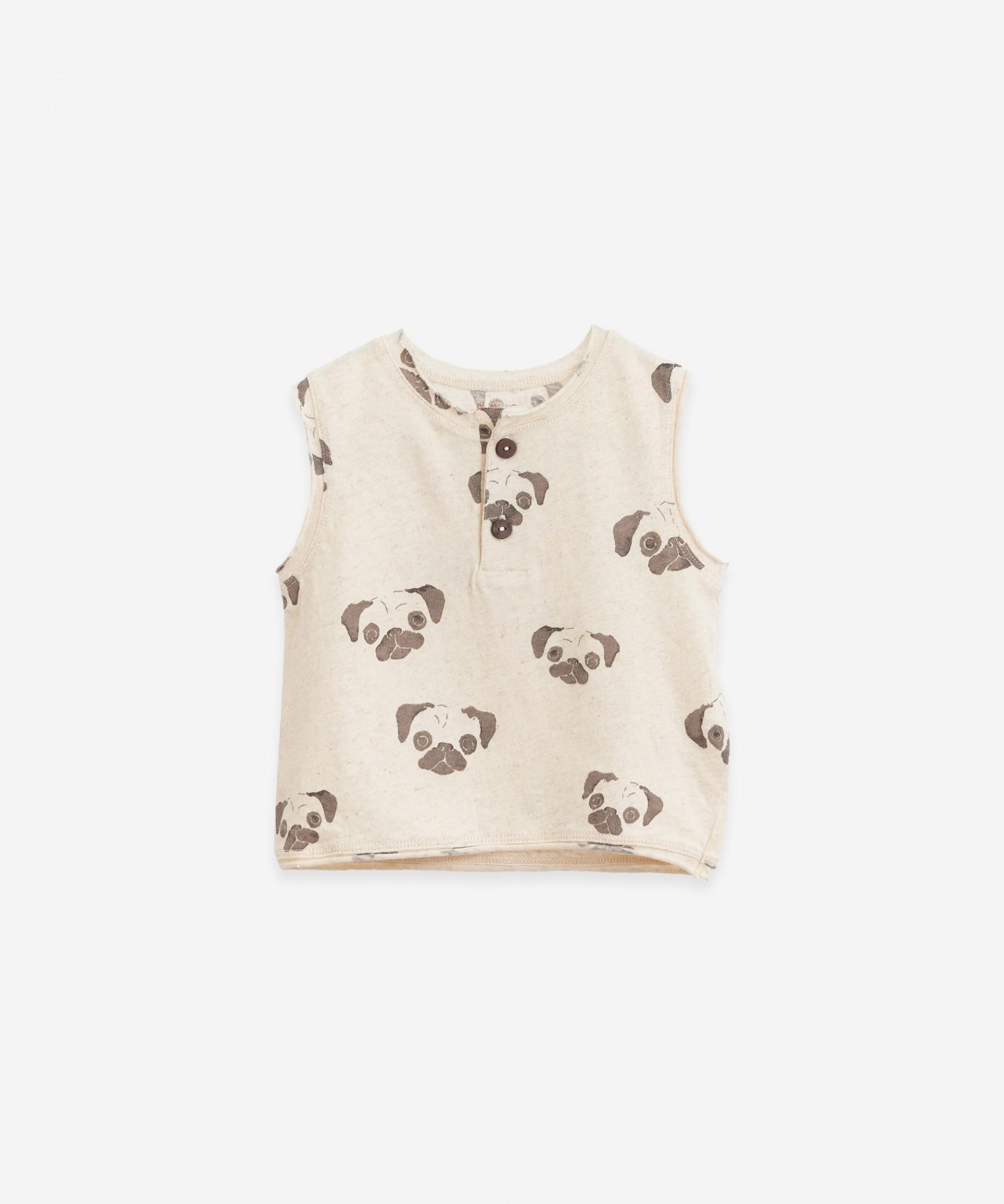 T-Shirt senza maniche con apertura | Botany