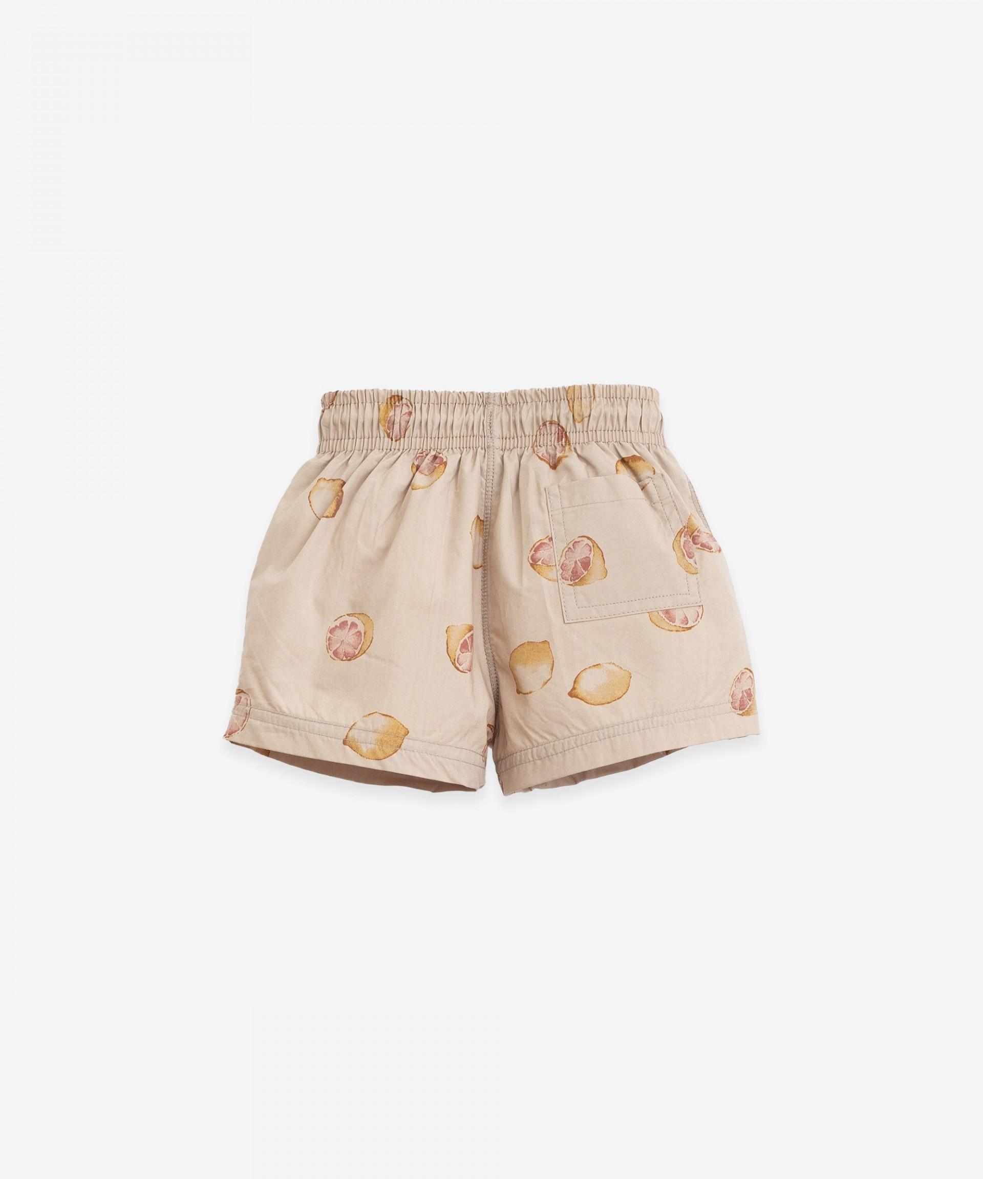 Swimming shorts with interior pants | Botany