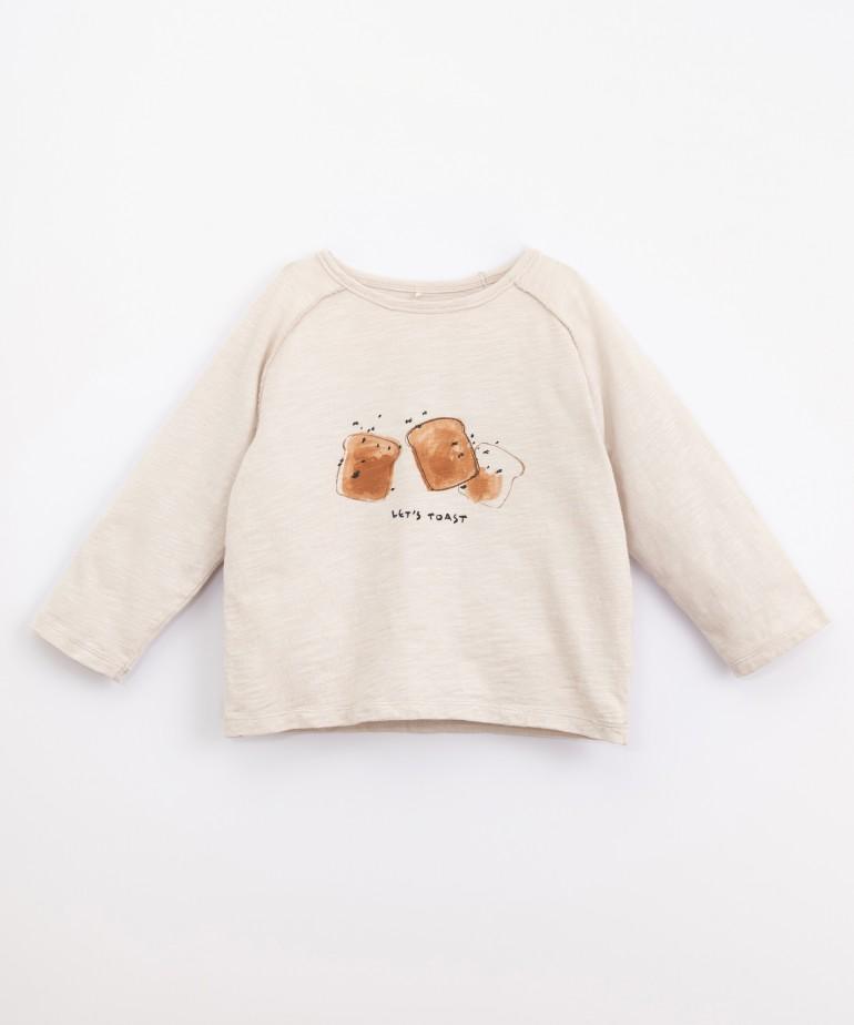 Camiseta con dibujo de algodón orgánico
