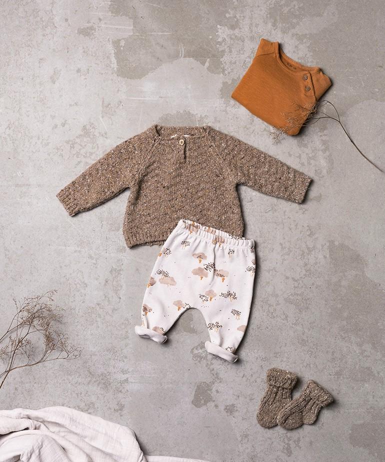 Camisola tricot com fibras recicladas