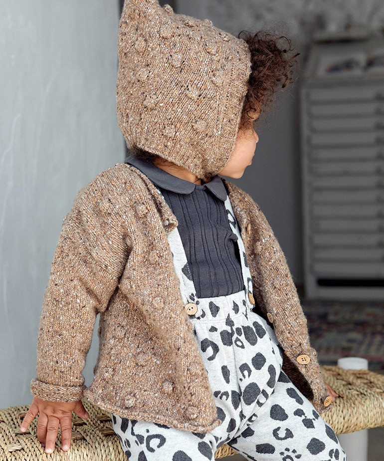 Knitted Jacket with coconut buttons