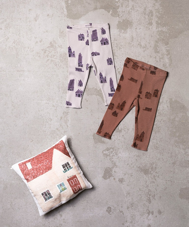 Leggings in mixture of organic cotton and recycled cotton