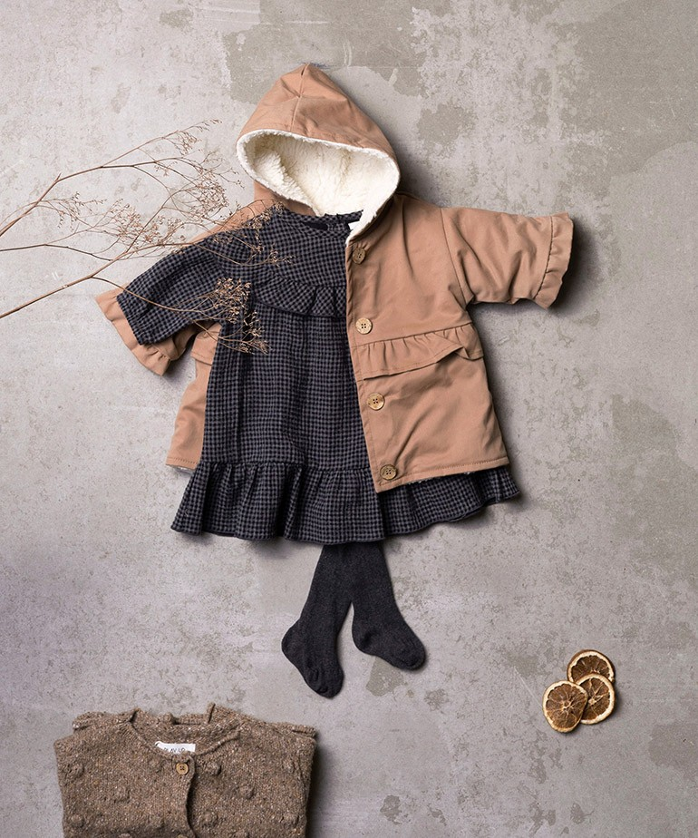 Vestido de algodón con patrón vichy