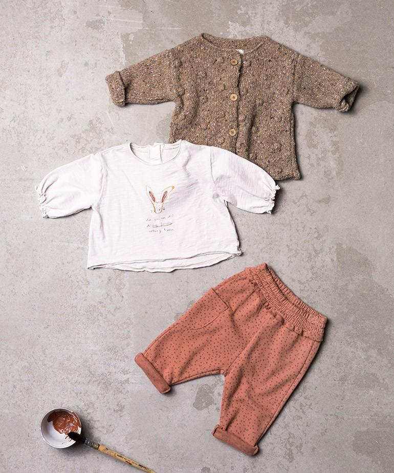 T-shirt com desenho em algodão orgânico