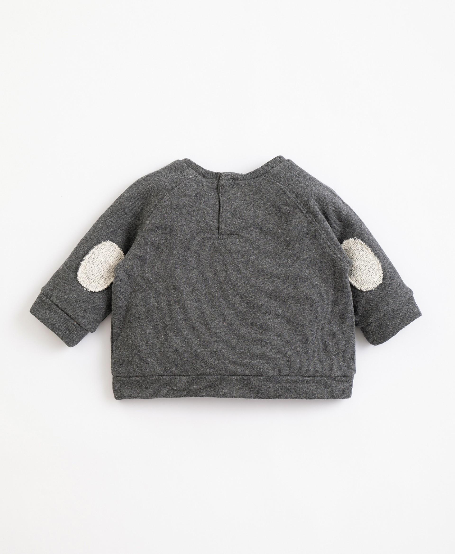 Camisola em algodão com cotoveleiras | Illustration