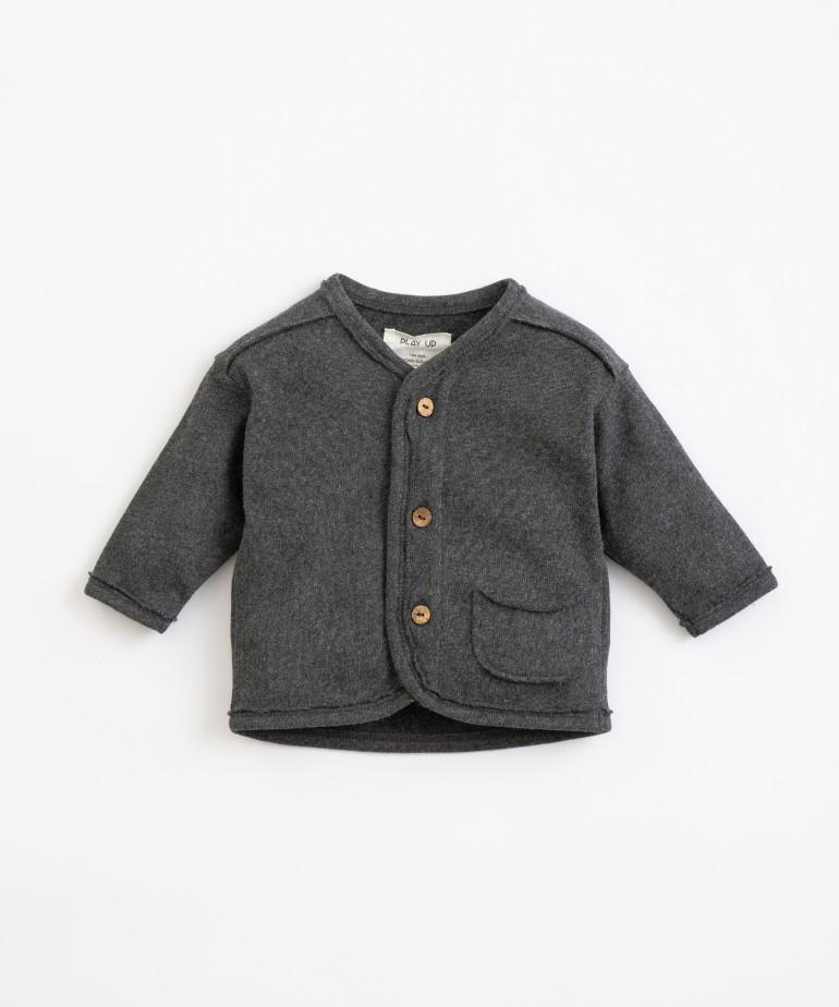 Organic cotton V-neck jacket