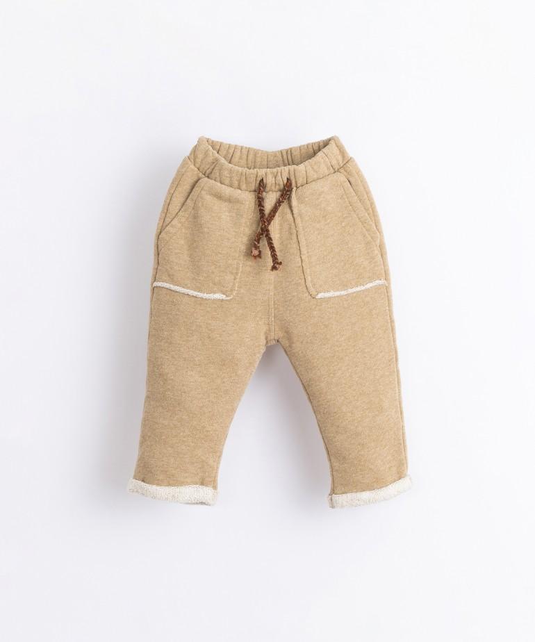 Pantalón de algodón con dobladillo