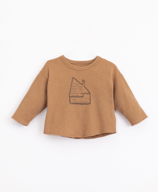 T-shirt com mistura de fibras naturais e recicladas | Illustration