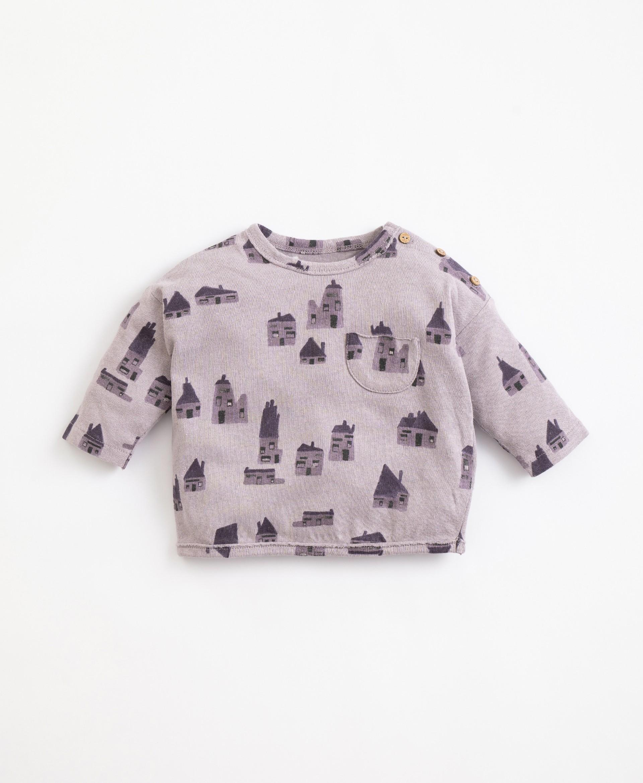 T-shirt com estampado de casas | Illustration