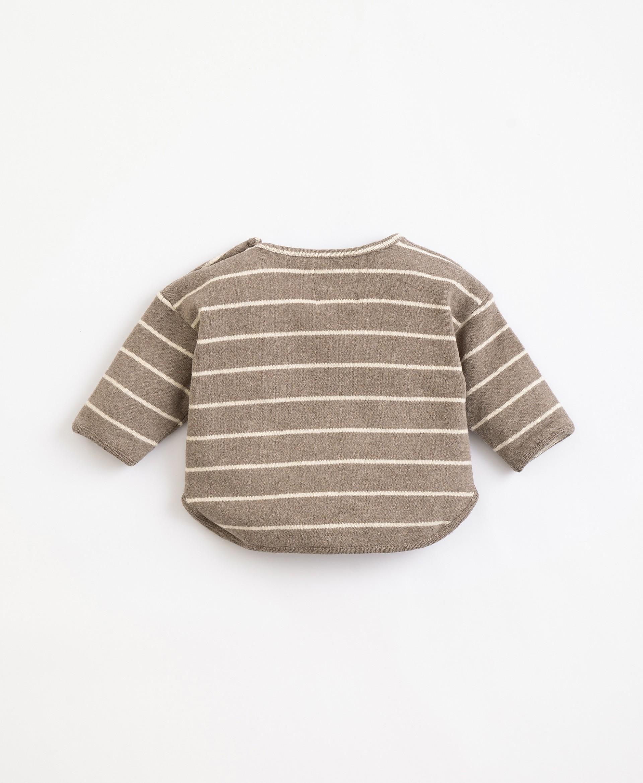 Organic cotton striped jersey | Illustration