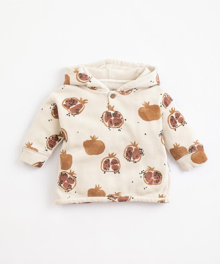 Jersey de algodón con estampado de granadas