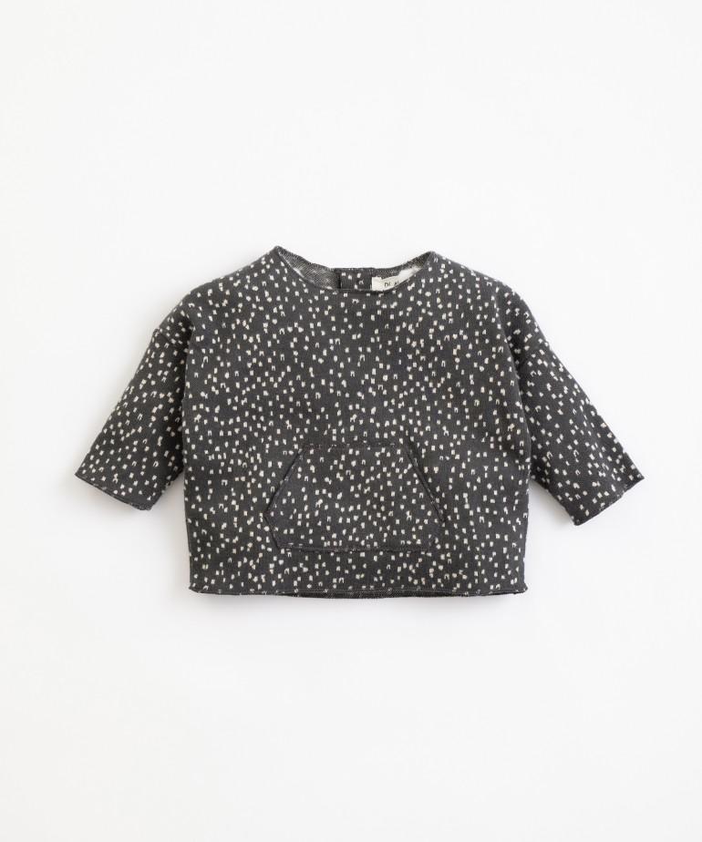 Camisola em algodão orgânico com padrão
