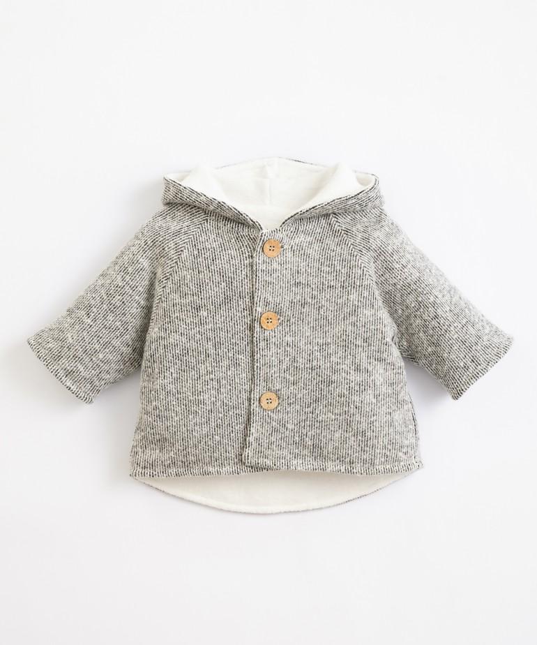 Jacket with polar jersey stitch lining
