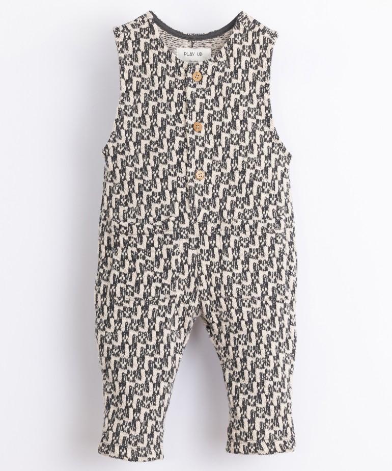 Cotton jumpsuit with pattern