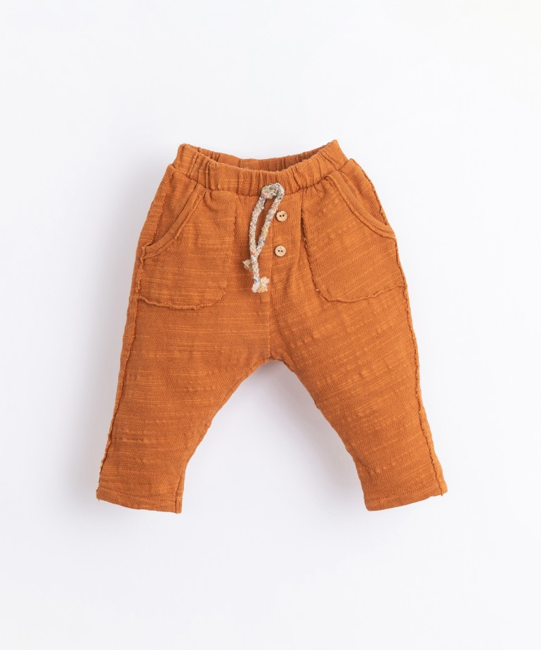 Organic cotton and recycled cotton trousers