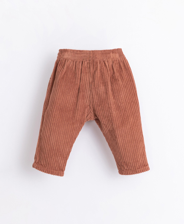 Calça em bombazine com cintura elástica | Illustration