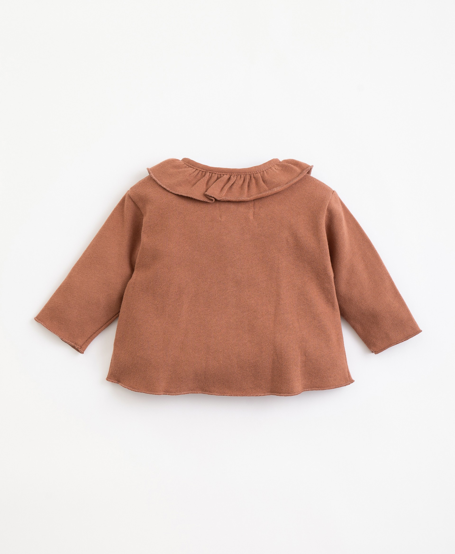 Jacket with organic cotton collar | Illustration