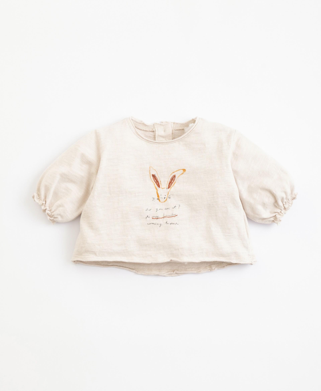 T-Shirt in cotone organico con disegno | Illustration