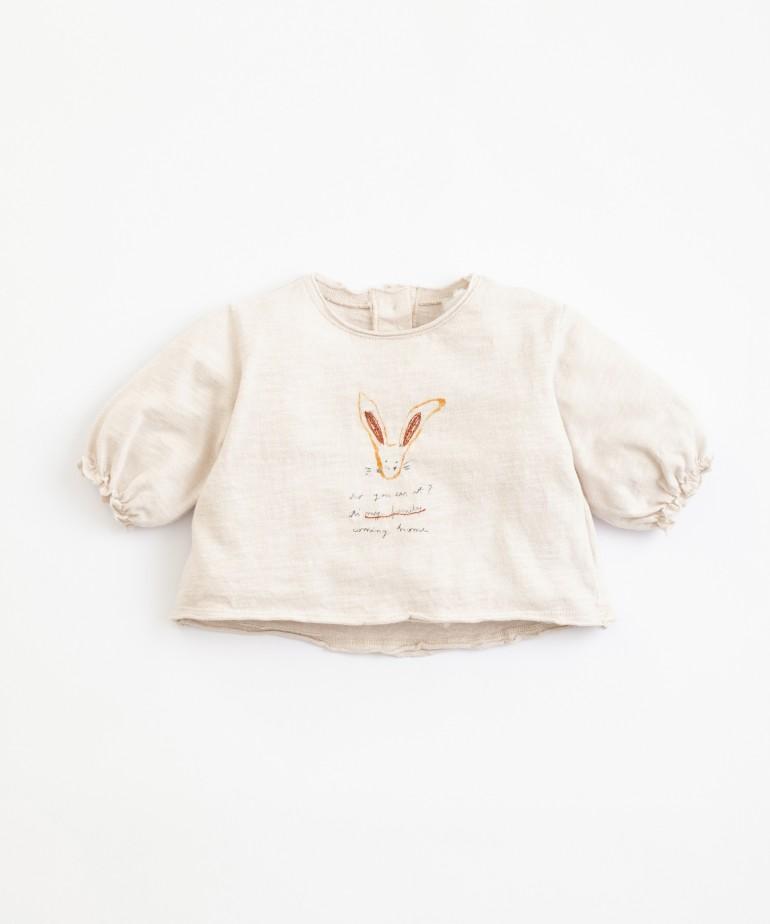 T-Shirt con disegno in cotone organico